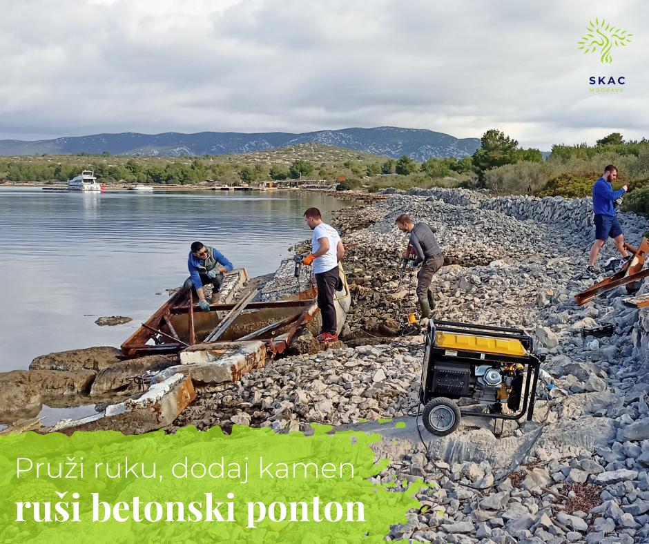Modrave u veljači i akcija razbijanja betonskih pontona